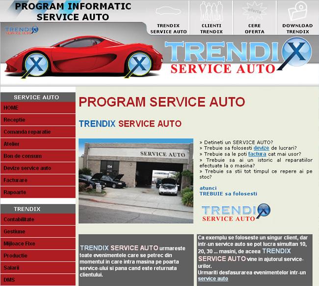 Program Service Auto Extensii Trendix